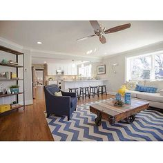 Old homes that have modern updates like this open concept are my favorite! This is another house in Forest Hills, Durham  #realtor #realestate #durham #bullcity #durhamnc #homedecor