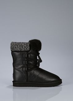 BRINLEY II Classic Hiker Boot With Buffalo Hide Laces, Tassles And Sweater Detail