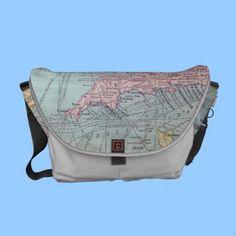 Vintage Map of Britain Messenger Bag