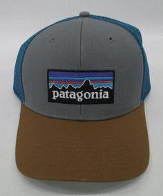 f9ff715af2585 Patagonia Mens P-6 Trucker Snapback Cap Hat 38017 Feather Grey Bear Brown