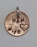 1st anniversary gift for him penny key chain custom hand #maggiemaybecrafty #anniversary #oneyearanniversary #giftsunder15