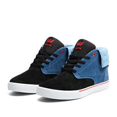 SUPRA PASSION | BLUE / BLACK / RED - WHITE | Official SUPRA Footwear Site