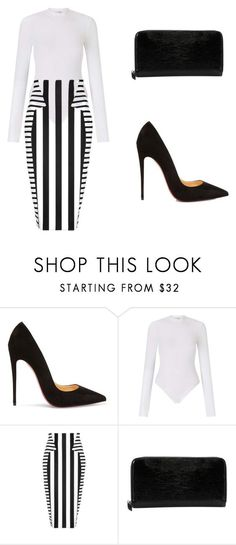 """""""BussinesWoman Style"""" by c-abrjolemmy ❤ liked on Polyvore featuring Christian Louboutin, Miss Selfridge and Cushnie Et Ochs"""