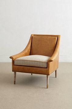 Leather Tillie Armchair #anthropologie
