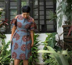 Tenue en pagne robe en pagne africain robe épaules nues