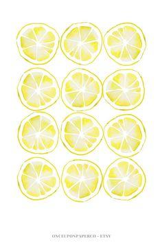 Lemon kitchen print Kitchen printable Farmhouse style