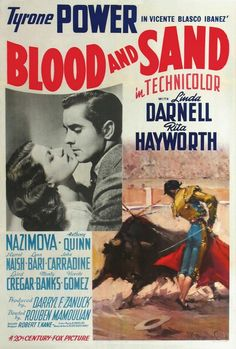BLOOD AND SAND - Tyrone Power - Linda Darnell - Rita Hayworth - Movie Poster