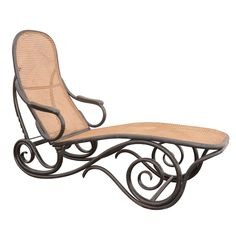 Thonet Ebonised Chaise Model #2 Novelty themed furniture, aesthetics in design with symmetry, as well as function.