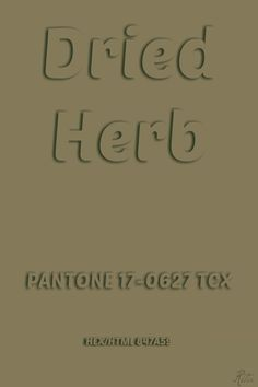 Pantone Dried Herb