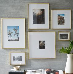 Gallery frames - polished brass - west elm