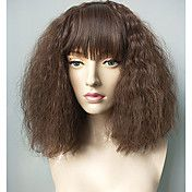 Synthetic+Hair+Wigs+Kinky+Curly+Natural+Hairline+Layered+Haircut+With+Bangs+Capless+Celebrity+Wig+Natural+Wigs+Cosplay+Wig+Short+Brown+–+USD+$+28.31
