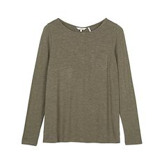 Buy Fat Face Maltby Button Back Top, Dustyperido Online at johnlewis.com