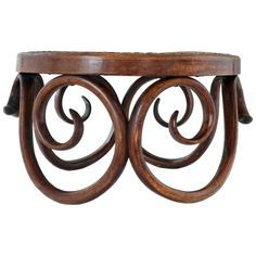 Early J & J Kohn Bentwood Footstool, 1890 ~ Austrian Art Nouveau ~| From a unique collection of antique and modern stools at http://www.1stdibs.com/furniture/seating/stools/