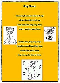 Kom nou Thing 1, Preschool Learning, Kids Songs, Afrikaans, Kids And Parenting, Good To Know, Book Lovers, Singing, Language