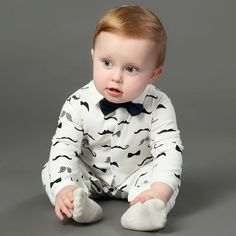 Baby Mustache Jumpsuit - www.baby-first-steps.com