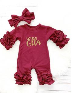 Monogrammed Baby Outfit Preppy Plaid,Baby Shower Gift Plaid Baby Personalized Baby Gown and Headband Set Newborn Gown Going Home Outfit