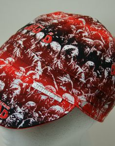 The Walking Dead Red Stripe Custom Welding Cap f1d16cae3d6a