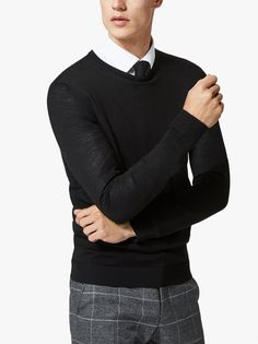 Men's Clothing- Shop the latest range of men's designer clothing with Evolve Clothing. Evolve Clothing, Black Sweaters, The Selection, Crew Neck, Men Sweater, Footwear, Clothes For Women, Trending Outfits, Shopping