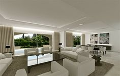 Spectacular Villa for Sale in The Golden Mile, Marbella - Spectacular, classic and seignior although the interior design is contemporary with a very big garden and pool. It is located in one of the best locations on the Golden Mile.