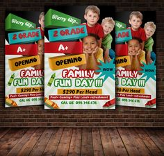 Kids Activities Flyer Template by Psd Templates on Creative Market