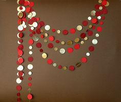 Hey, I found this really awesome Etsy listing at https://www.etsy.com/listing/191264903/gold-red-garland-gold-garland-red