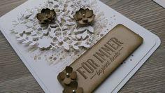 Hochzeitskarte - ein Designerstück von Mein-Kreativpoint bei DaWanda