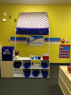 Dramatic play post office for preschool