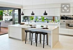 Modern clean kitchen