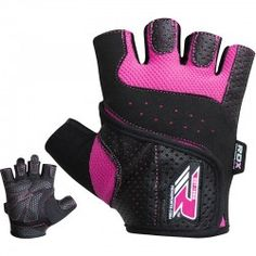 BOOM Ladies Weight Lifting Gym Gloves Body Building Women Training Fitness Pink
