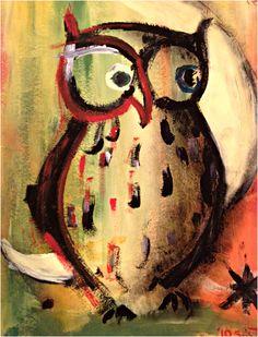 owl and moon by Susanna Zlotnikov