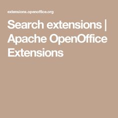 Search extensions   Apache OpenOffice Extensions