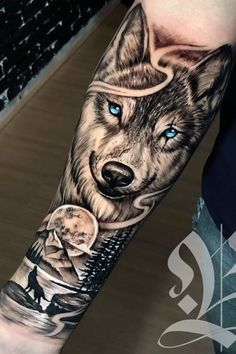 beelmoon - 0 results for tattoos Wolf Tattoo Forearm, Forearm Sleeve Tattoos, Best Sleeve Tattoos, Tattoo Sleeve Designs, Tattoo Wolf, Wolf Tattoos Men, Lion Head Tattoos, Badass Tattoos, Hand Tattoos
