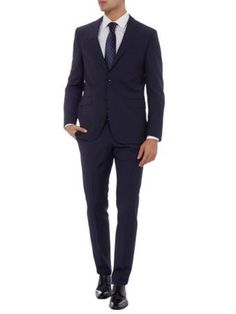 TOMMY HILFIGER Tailored Fit Anzug mit 2-Knopf-Sakko in Marineblau | FASHION ID Online Shop