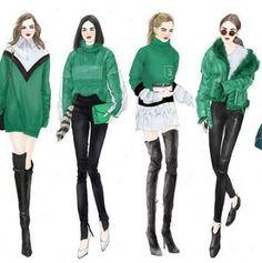40 Trendy Fashion Illustration Art Drawing Design