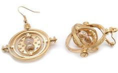 18K Gold Plated Harry Potter Hermione Granger's Time Turner Earrings Harry Potter Necklace, Harry Potter Hermione Granger, Time Turner, Mischief Managed, Cool Gifts, 18k Gold, Earrings, Accessories, Jewelry