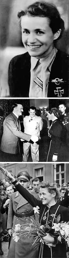 28 Feb 44: German Aviator, Captain Hanna Reitsch, the first female test pilot in the world, suggests the creation of the Nazi equivalent of a kamikaze squad of suicide bombers while visiting Adolf Hitler in Berchtesgaden. Fortunately, Hitler is less than enthusiastic about the idea. More: http://scanningwwii.com/a?d=0228&s=440228 #WWII