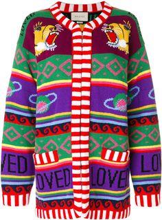 Gucci tiger intarsia knit cardigan #gucci #cardigan #sweaters #sweaterbabe