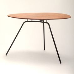 Clement Meadmore; Wood and Enameled Metal Dining Table, c1955.