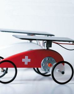Naef Mouvelette Solar Powered Vehicle - Red with Swiss Cross