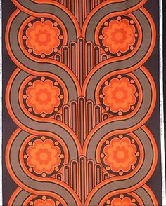 Volution screen printed cotton satin furnishing fabric  Designed by Peter Hall for Heals, London, 1969  CIRC.40-1969, V Museum