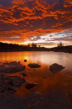 Beautiful Sunrise at Lake Isabelle in Ward Colorado