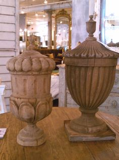 oversized urn shaped wood finials Garden Urns, Garden Statues, Barn Cupola, Potting Tables, Iron Decor, Bagan, French Country House, Architectural Salvage, Wood Turning