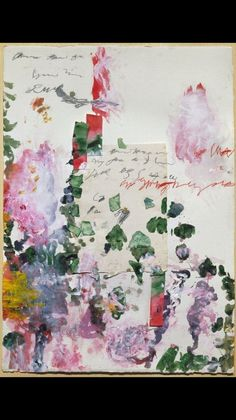 Cy Twombly - Untitled, 1989 collage: drawing paper, shredded drawing paper, transparent adhesive tape, glue, acrylic, pencil, wax crayon , 105 x 74 cm