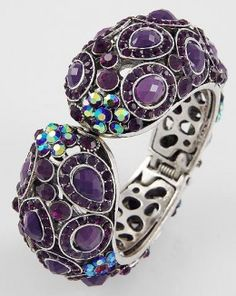 Purple Rhinestone Bracelet
