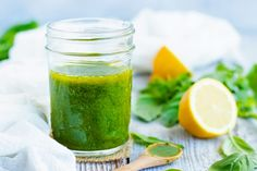 Nothing beats this warmer weather more than a simple and easy basil and lemon vinaigrette dressing recipe! Pour this gluten-free, dairy-free, vegan and healthy vinaigrette dressing over your favorite salad, quinoa veggie bowl, or on a sandwich. Lemon Vinaigrette Dressing, Basil Salad Dressings, Homemade Dressing Recipe, Veggie Quinoa Bowl, A Table, Vegan Recipes, Sauce Recipes, Dairy Free