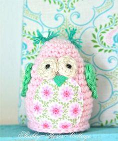 Crocheted owl by *ShabbyRosesCottage*, via Flickr