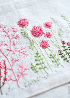 So pretty and springy - an embroidered apron pocket!