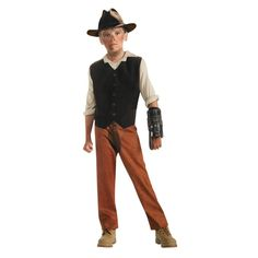 Jake Lonergan, Cow Boys & Aliens Boys Halloween Costume - Small