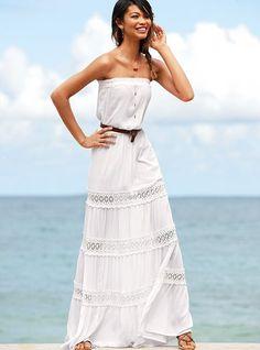 gauze maxi dress <3