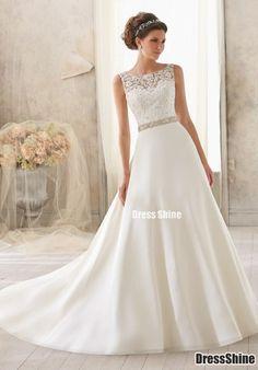 lace wedding dress lace wedding dress - ficaria melhor com saia bordada!